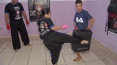 Pai e filha se preparam para brasileiro Kung Fu - Pai e filha se preparam para brasileiro Kung Fu