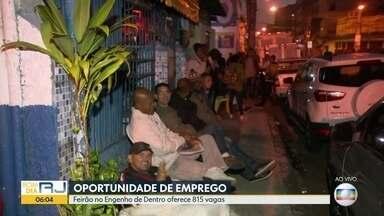 Feirão, no Engenho de Dentro, oferece oportunidades de emprego - O número de desempregados no estado do Rio é de quase 1,4 milhão.