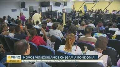 Novos venezuelanos chegam a Rondônia - 36 imigrantes desembarcam em Porto Velho nesta quinta.