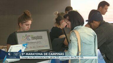 Entrega dos kits da 5ª Maratona de Campinas será realizada até sábado - A entrega acontece nesta sexta-feira (12), até às 22h, e no sábado (13), das 9h às 18h.