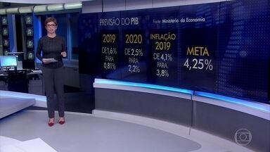 Governo reduz para 0,81% previsão do PIB para 2019 - O último dado divulgado previa um crescimento de 1,6% para o PIB deste ano.