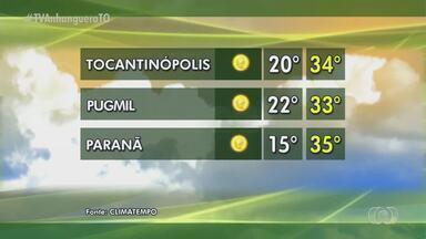 Veja como fica a previsão do tempo para cidades produtoras do Tocantins - Veja como fica a previsão do tempo para cidades produtoras do Tocantins