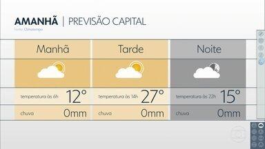 Confira a previsão do tempo para este final de semana - Domingo (14) será de calor e tempo firme na capital. Confira a previsão para as demais áreas de SP.