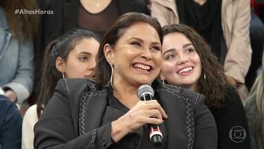 Fafá de Belém relembra encontro com Serginho em show de Roberto Carlos - Cantora conta momento de sua infância