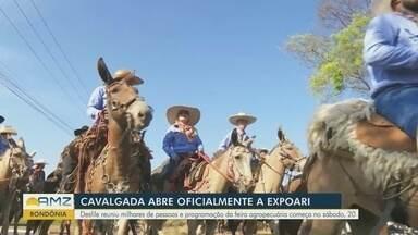 Cavalgada da 36ª Expoari reúne mais de 700 cavaleiros em Ariquemes, RO - Cavaleiros e amazonas percorreram principais avenidas do município neste sábado, 13. Confira as fotos do desfile e da Queima do Alho, evento com uma competição culinária.