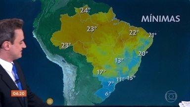 Temperaturas ficam mais baixas na região Sul do país nesta terça-feira - O dia será fio também em São Paulo. Confira a previsão do tempo para todo o país.