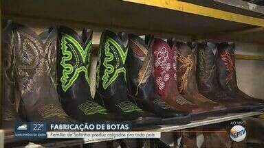 EPTV 40 anos: fábrica de botas é destaque em Saltinho (SP) - Povoado surgiu no século XVIII, mas cidade só foi criada em 1991.