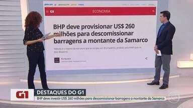 G1 no BDMG: BHP anuncia US$ 260 mi para descomissionar barragens a montante da Samarco - Método é o mesmo da estrutura que se rompeu em Brumadinho, proibido pela ANM após os dois desastres.