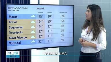 Confira a previsão do tempo para as regiões dos Lagos e Serrana do Rio nesta quarta (17) - Assista a seguir.