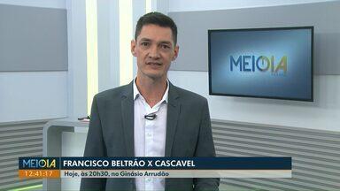 Cascavel enfrenta o Francisco Beltrão pela Chave Ouro do Paranaense de Futsal - Já o Marechal Rondon venceu o Jaraguá do Sul, pela Liga Nacional.