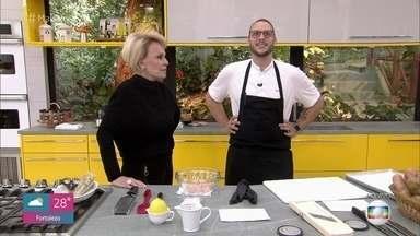 Programa de 18/07/2019 - Ana Maria Braga recebe o estrelado chef Luiz Felipe para aprender uma receita de batata suflê com tartar de peixe