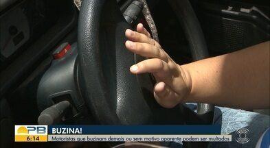 Motoristas que buzinam demais ou sem motivo aparente podem ser multados - Confira os detalhes com o repórter Plínio Almeida.