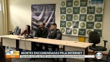 Operação do MP na Baixada prende 12 pessoas ligadas a um grupo de extermínio - Promotores do Ministério Público e investigadores da Delegacia de Homicídios da Baixada estão fazendo uma operação para cumprir mandados de prisão em Queimados.