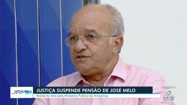 Justiça suspende pagamento de pensão especial a ex-governador do AM José Melo - Decisão foi tomada com embasamento em Emenda Constitucional de 2011.