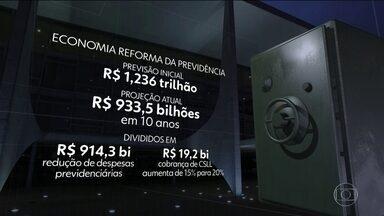 Economia da Previdência é reduzida após mudanças na Câmara - Em junho, antes das alterações, o governo previa economia de R$ 1,236 trilhão na Previdência com a aprovação do texto da reforma.