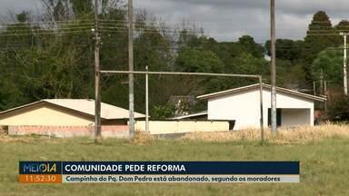 Comunidade pede reforma no campinho do Parque Dom Pedro, em Ponta Grossa - O campinho fica na região do Nova Rússia.