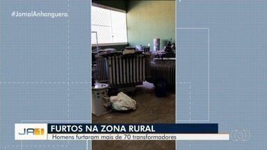 Polícia prende suspeitos de furtar transformadores da zona rural de Guapó - Segundo a polícia, eles adulteravam equipamentos e revendiam.