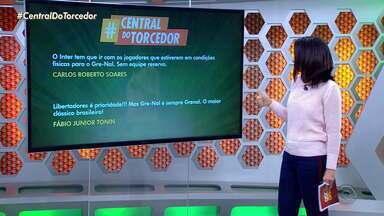Telespectadores participam do Globo Esporte RS pela #CentralDoTorcedor - Envie você também a sua dúvida ou comentário.