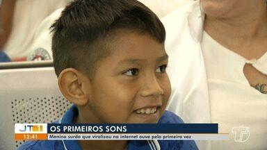 Menino surdo recebe aparelho e consegue ouvir sons pela primeira vez - A história de Ezequiel, de 9 anos, viralizou na internet. Veja a reação e a emoção do menino.