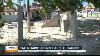 Prefeitura atende comunidade e está recuperando praça de João Pessoa - Equipe do Calendário JPB1 acompanha a luta dos moradores do Castelo Branco.
