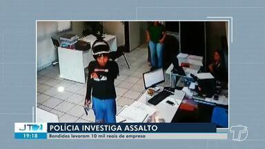 Polícia investiga assalto em empresa cerealista em Santarém; criminosos levaram R$ 10 mil - Funcionários da empresa foram rendidos pela dupla.