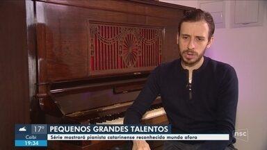 Série Pequenos Grandes Talentos conta história do pianista Pablo Rossi - Série Pequenos Grandes Talentos conta história do pianista Pablo Rossi