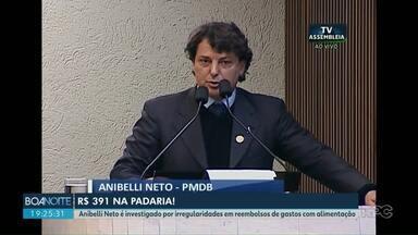 Justiça bloqueia bens de deputado estadual por gastos com alimentação - Anibelli Neto é investigado por irregularidades em reembolsos de gastos com alimentação. Deputado gastou quase 400 reais numa padaria num dia.