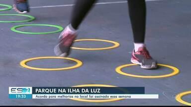 Acordo para construção de parque na Ilha da Luz, em Cachoeiro, é assinado - Investimento deve ser de R$ 5 milhões.