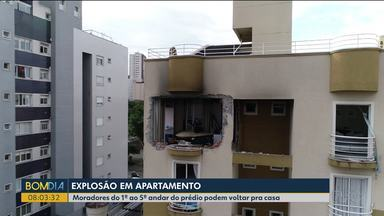 Moradores do prédio que explodiu podem voltar para os apartamentos - Não são todos os apartamentos que estão liberados. Por enquanto, só os moradores do 1º ao 5º andar.