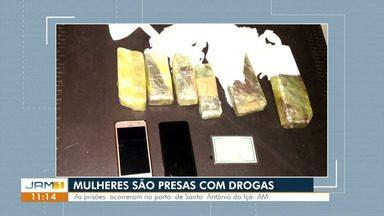 Mulheres são presas com drogas no interior do AM - Drogas estavam escondidas no corpo das suspeitas
