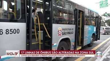 Alteração no trajeto de 17 linhas de ônibus na Zona Sul de São Paulo - Vários trajetos passaram a circular mais próximo à estação Conceição
