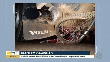 Ciclista morre em acidente em rotatória de Tangará da Serra - Ciclista morre em acidente em rotatória de Tangará da Serra