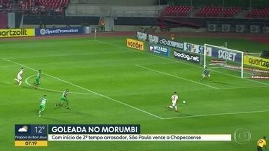 Esporte no Bom Dia SP - Goleada no Morumbi. Classificação do Brasileiro. Palmeiras na Libertadores.