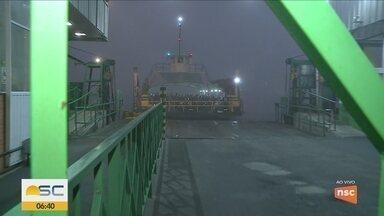 Quadro 'VC no BDSC' mostra situação do serviço ferry boat de Itajaí e Navegantes - Quadro 'VC no BDSC' mostra situação do serviço ferry boat de Itajaí e Navegantes