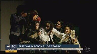 Passos recebe espetáculos em vários pontos da cidade no festival de teatro - Passos recebe espetáculos em vários pontos da cidade no festival de teatro