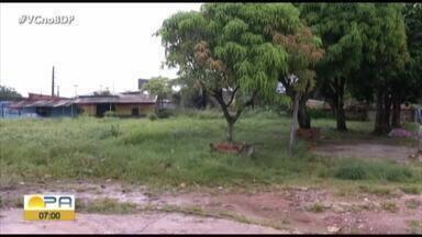 Moradores denunciam condições de Praça em Ananindeua - Local nem parece ser uma praça pública e, de acordo com os moradores, está abandonado.