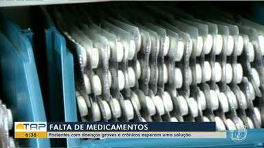 Pacientes com doenças graves e crônicas sofrem com a falta de medicamentos no Pará - Pelo menos 21 medicamentos que deveriam ser distribuídos pelo Governo Federal estão com estoque zerado ou quase acabando.