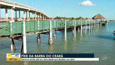 Píer que desabou na Barra do Ceará há quase três meses continua em obras - Saiba mais em g1.com.br/ce