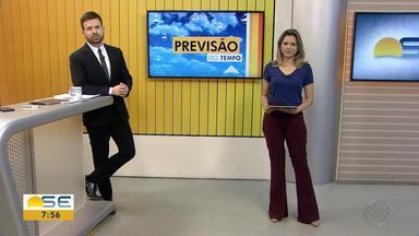 Miche Costa apresenta a previsão do tempo para Sergipe - Miche Costa apresenta a previsão do tempo para Sergipe.