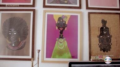 Telão do Encontro: Robinho Santana - As obras do artista vão decorar o cenário do 'Encontro' nesta semana