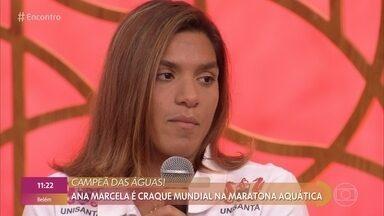 Ana Marcela conta um pouco sobre sua preparação para a maratona aquática - Atleta já tem 12 medalhas em mundiais