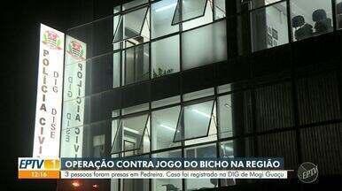 Operação contra jogo do bicho prende 3 pessoas em Pedreira - Ação ocorreu nos comércios da cidade e três pessoas foram presas em flagrante. Caso foi registrado na DIG de Mogi Guaçu (SP).