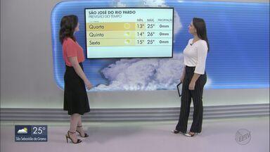Veja como fica o tempo nesta terça-feira na região - Algumas cidades registram aumento na temperatura.