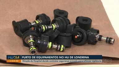 Hospital Universitário decide contratar segurança armada depois de furto de equipamentos - Oito aparelhos de endoscopia foram furtados na semana passada. Uma brasileira e três colombianos foram presos, com eles foram encontradas as 18 válvulas levadas junto com os equipamentos.
