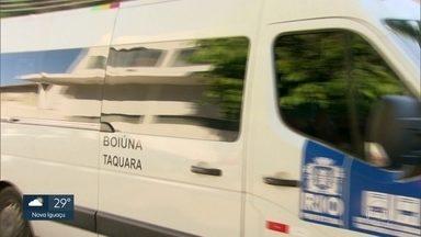 Prefeitura sanciona lei para anistiar multas de vans que saíram dos itinerários - Prefeitura sanciona lei para anistiar multas de vans que saíram dos itinerários autorizados.