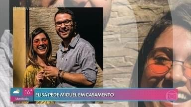 Conheça a história da Elisa e do Miguel - Elisa pede Miguel em casamento e mostra a nova tendencia nos tempos de hoje.
