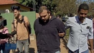 Polícia apresenta suspeito de matar tio em Campo Grande - Miguel Arcanjo Camilo Junior foi levado para prestar depoimento e participar de possíveis buscas.