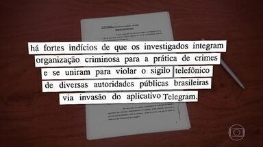 Sigilo da investigação contra hackers é derrubado - Operação que investiga suspeitos de invadir telefones de autoridades prendeu quatro pessoas, na terça-feira (23), em São Paulo.