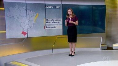Previsão ainda é de chuva no Nordeste e no Rio Grande do Sul - Inverno? SP pode ter a tarde mais quente de julho nesta quarta-feira.