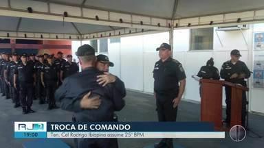 Ten. Cel. Rodrigo Ibiapina assume 25º BPM - Tenente-coronel Roberto Dantas vai para o Batalhão de Jacarepaguá.